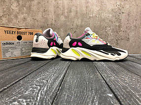 Мужские кроссовки Adidas Yeezy 700 (Рефлективные) / адидас / реплика (1:1 к оригиналу), фото 3