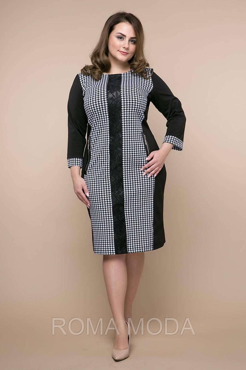 Комбинированное платье из джерси ЛОЛА черное
