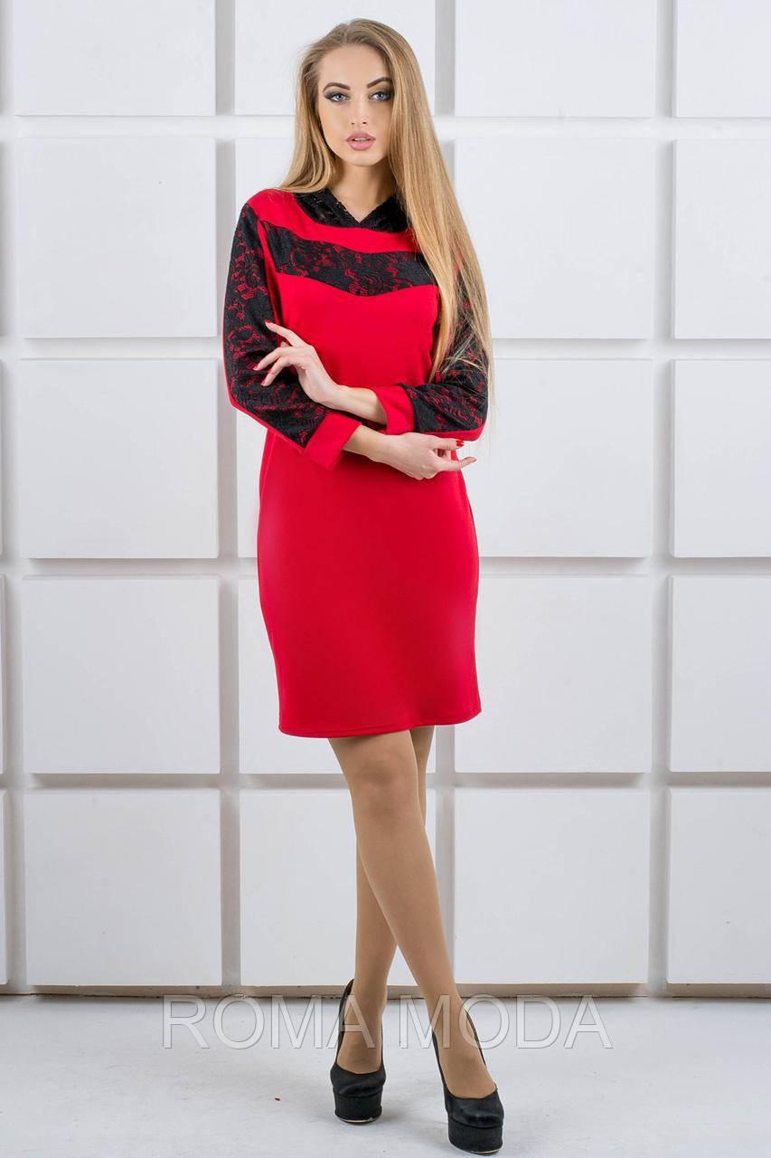 Молодежное платье с капюшоном в 3х цветах  OLS Камита