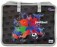 Папка-портфель пластиковый, на молнии, с ручками Football, S1827