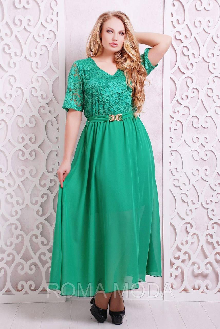Платье вечернее с гипюром АЛАНА