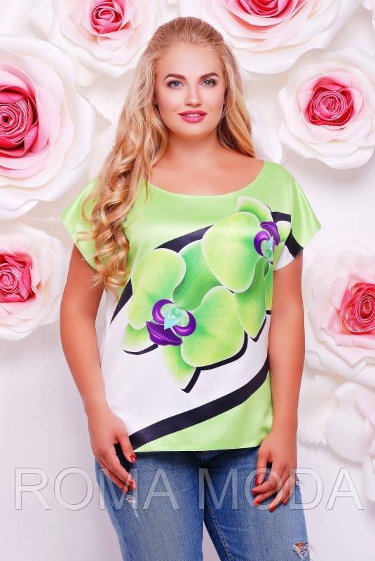 Женская футболка орхидеи FB-1353A размеры 50-56