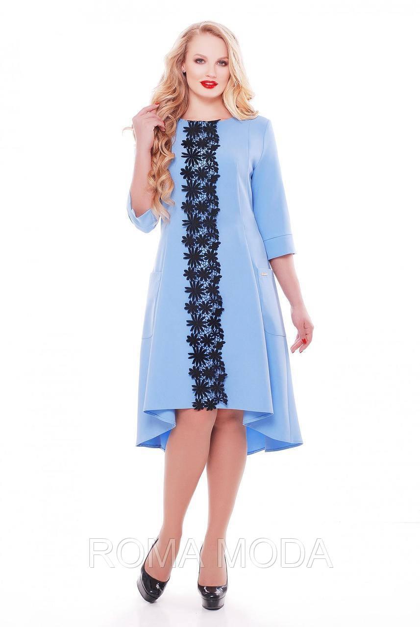 Платье приталенного силуэта, клешевое книзу VL Милана в 4х цветах