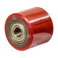 Ролики без кронштейна Серии 7 с шариковыми подшипниками (сталь/полиуретан) ПКК Диаметр: 80мм.