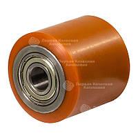 Ролики без кронштейна Серии 9 с шариковыми подшипниками (сталь/полиуретан) ПКК Диаметр: 80мм.