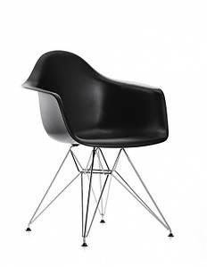 Кресло Тауэр, хромированное, пластик, цвет черный