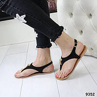 Босоножки черные, низкий ход, хорошее качество, удобные, женская летняя обувь, фото 1