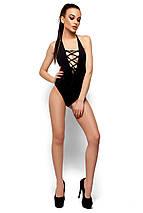 Сдельный купальник декорированный шнуровкой Karree черный, фото 2