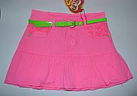 Яркая коттоновая юбка с оборкой для девочек рост 128, 134, S&D KK-G14  Венгрия  , фото 1