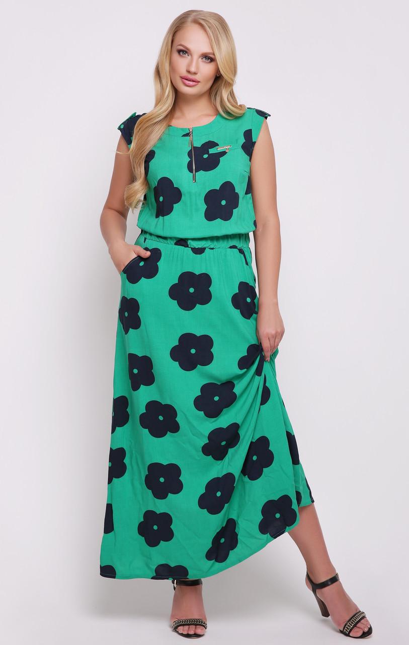 9337f0f99fc Длинное платье в пол сарафан больших размеров легкое женское летнее штапель  хлопок - Интернет магазин Sport