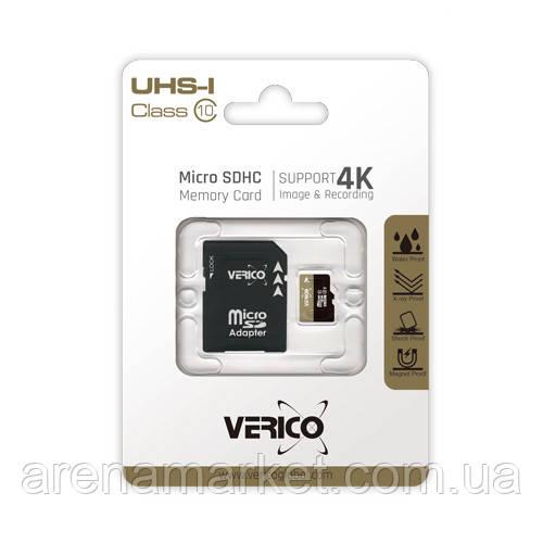 Карта пам'яті Verico MicroSDHC 16GB UHS-I Class 10 - SD Адаптер