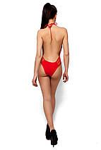 Сдельный купальник декорированный шнуровкой Karree красный, фото 3