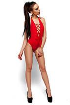 Сдельный купальник декорированный шнуровкой Karree красный, фото 2