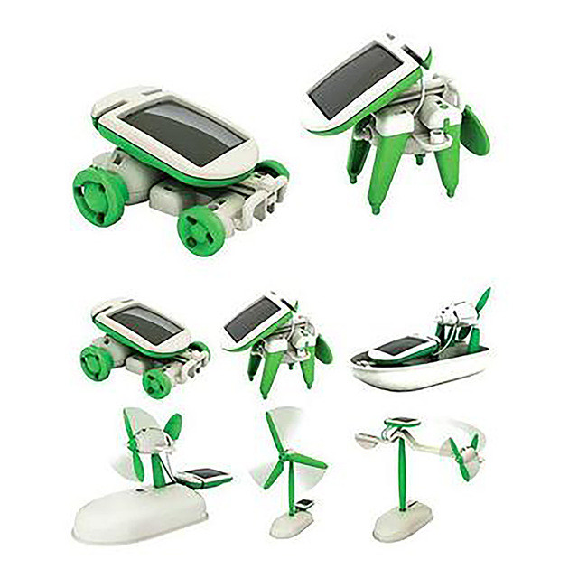 Розвиваючий конструктор 6-в-1 Solar Toy DIY Kit на сонячній батареї