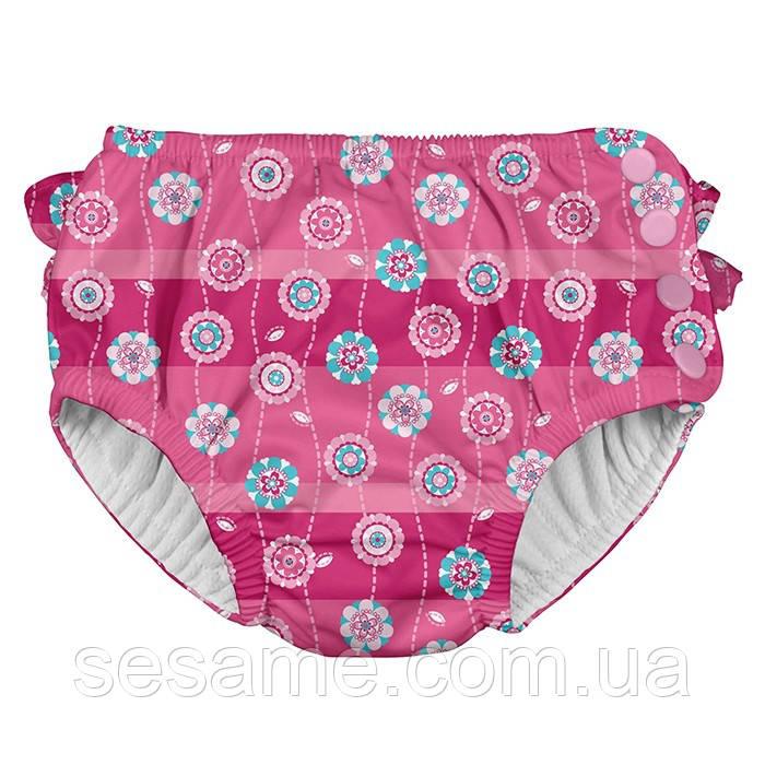 Трусики для плавания I Play -Hot Pink Stripe Flower
