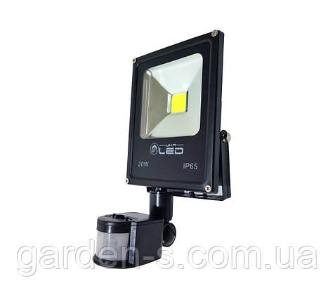 Прожектор светодиодный с датчиком движения 20 Вт, фото 2