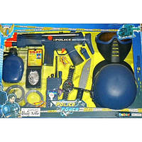 Набор полиции (маска, пистолет, бинокль, автомат трещотка) 33550 hn kk