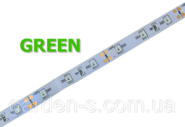 Светодиодная лента SMD2835 60d/m IP33 GREEN, фото 2