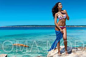 Стильное парео пляжное однотонное Pareo 7291 разные цвета