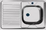 Мойка 0, 8 мм 'SOFIA' накладная 80 см ширина * 60 см глубина 16 см правая (матовая, большой сифон)