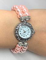 Женские наручные часы-браслет Pearl (Розовые)