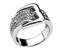Кольцо серебряное Ремень