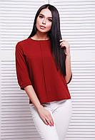 Блузка бордовая