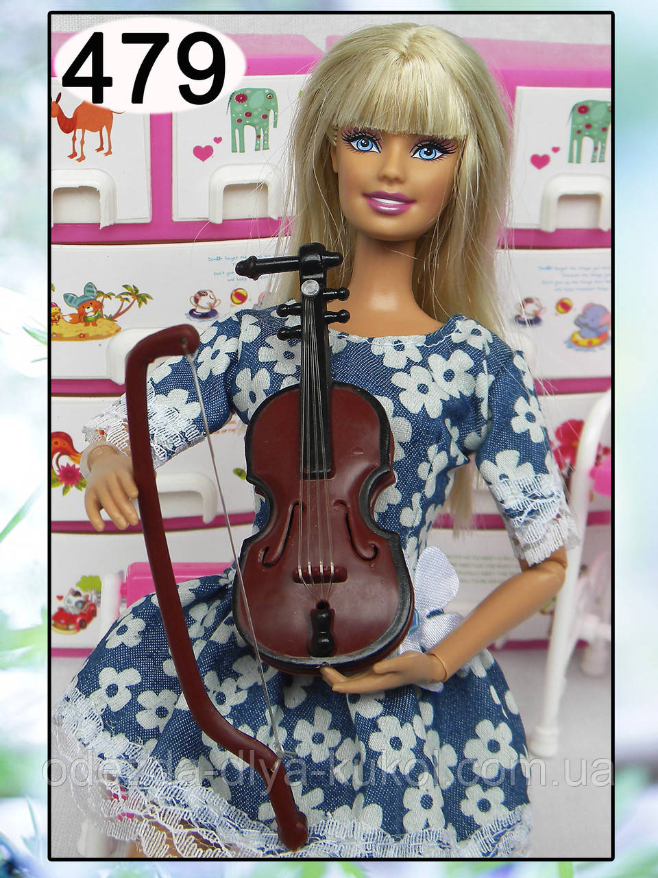 Скрипка (аксессуары для кукол)