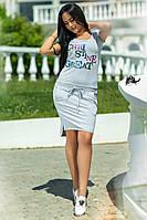 Платье-туника женская с пайетками по 56 размер  кв635, фото 1