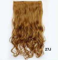Трессы волосы на заколках Рыже коричневый