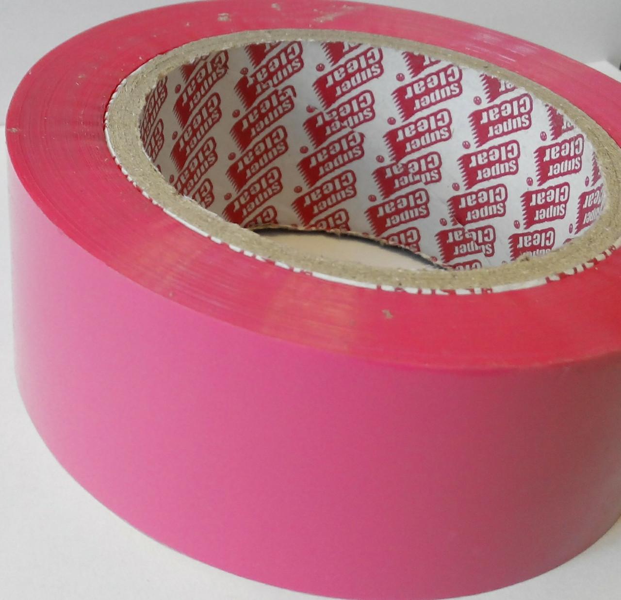 Розовый скотч 300 метров SuperClear