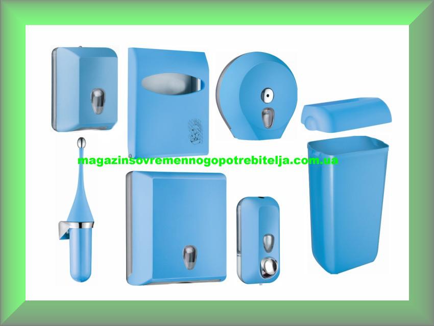 Набор для ванной и туалетной комнаты СOLORED Mar Plast, голубой (Италия)