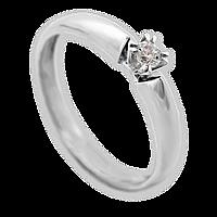 Золотое кольцо Выбор с бриллиантом 16.5 000019561