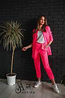 Костюм женскиймодный пиджак на подкладке укороченные брюки Dmil976, фото 1
