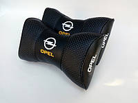 Подушка на подголовник Opel черная