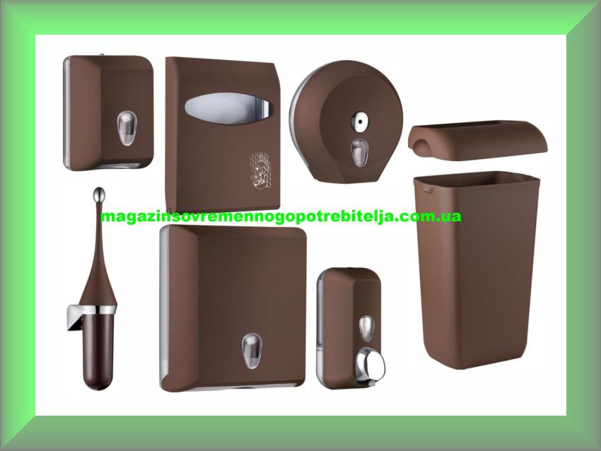 Набор для ванной и туалетной комнаты СOLORED Mar Plast, коричневый (Италия)