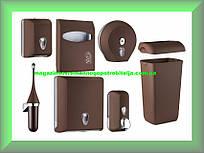 Набор для ванной и туалетной комнаты СOLORED Mar Plast, коричневый Италия  (можно все по отдельности)