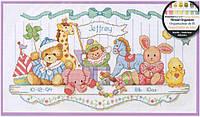 """Набор для вышивания крестом 03729 Детская метрика """"Полка с игрушками"""" DIMENSIONS"""