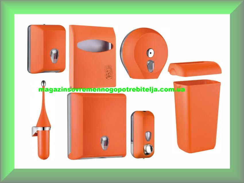 Набор для ванной и туалетной комнаты СOLORED Mar Plast, оранжевый (Италия)