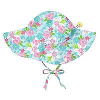 Солнцезащитная панамка I Play -Light Aqua Paradise Flower