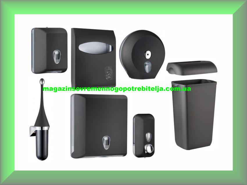 Набор для ванной и туалетной комнаты СOLORED Mar Plast, черный (Италия)