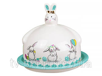 """Блюдо с крышкой """"Кролики"""", 17см*14,5см"""