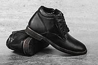 Мужские Классические ботинки Yuves Черные 10278