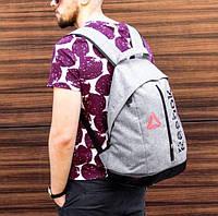 Спортивный городской рюкзак Reebok с кожаным дном из эко кожи