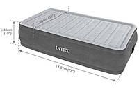 Велюр кровать 64412 со встроенным электронасосом 220 в (191 х 99 х 46 см) kk