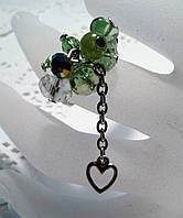 Кольцо  для выпускного вечера девушке  из чешского хрусталя