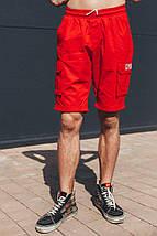 Шорты карго мужские красные, фото 2