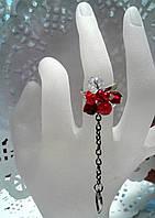 Кольцо  для выпускного вечера девушке  из чешского хрусталя , фото 1