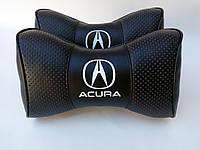 Подушка на подголовник Acura черная