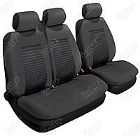 Чехлы на микроавтобусы Beltex Comfort с расположением сидений ➣ водитель + 2 пассажира ✓ цвет:черный